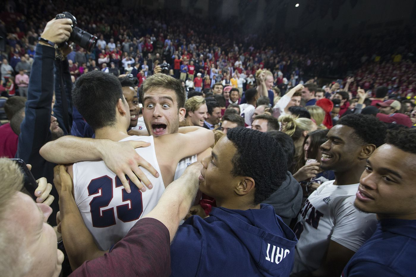 Penn basketball snaps Villanova's Big 5 streak, wins, 78-75, in a Palestra classic