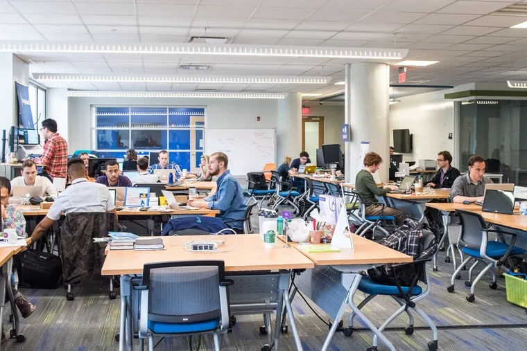 The coworking space ic@3401 at the University City Science Center. Entrepreneurs and companies who win a spot in the GSA 2020 competition are entitled to free office space as part of the Philadelphia-based accelerator program.