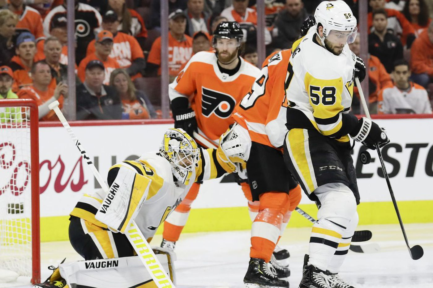 Flyers' early push wasn't enough to top Penguins in NHL playoffs