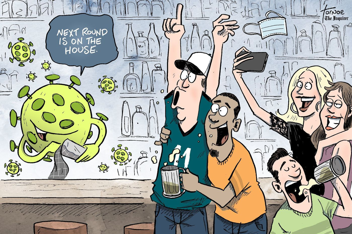 Cartoon: Pittsburgh and other areas prove bars and coronavirus don't mix