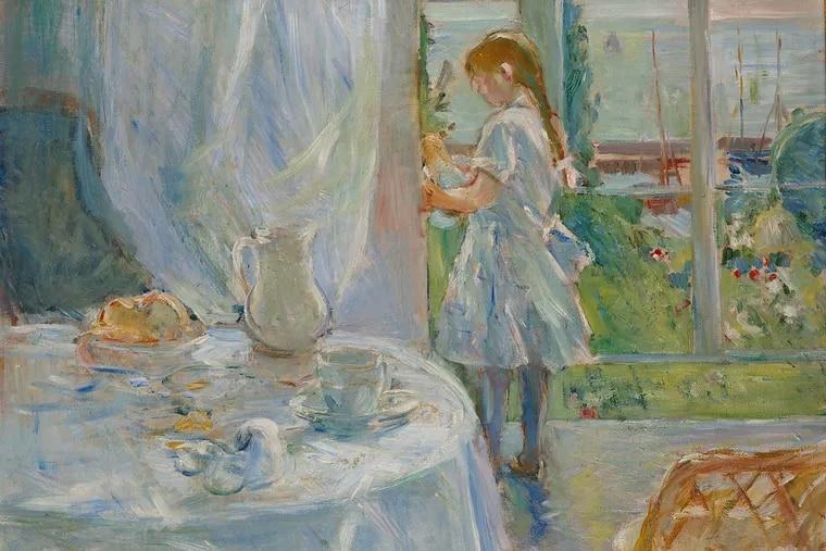 "Detail from Berthe Morisot's ""Cottage Interior"" (1886), part of the Barnes Foundation show Berthe Morisot: Woman Impressionist (Musée d'Ixelles)"