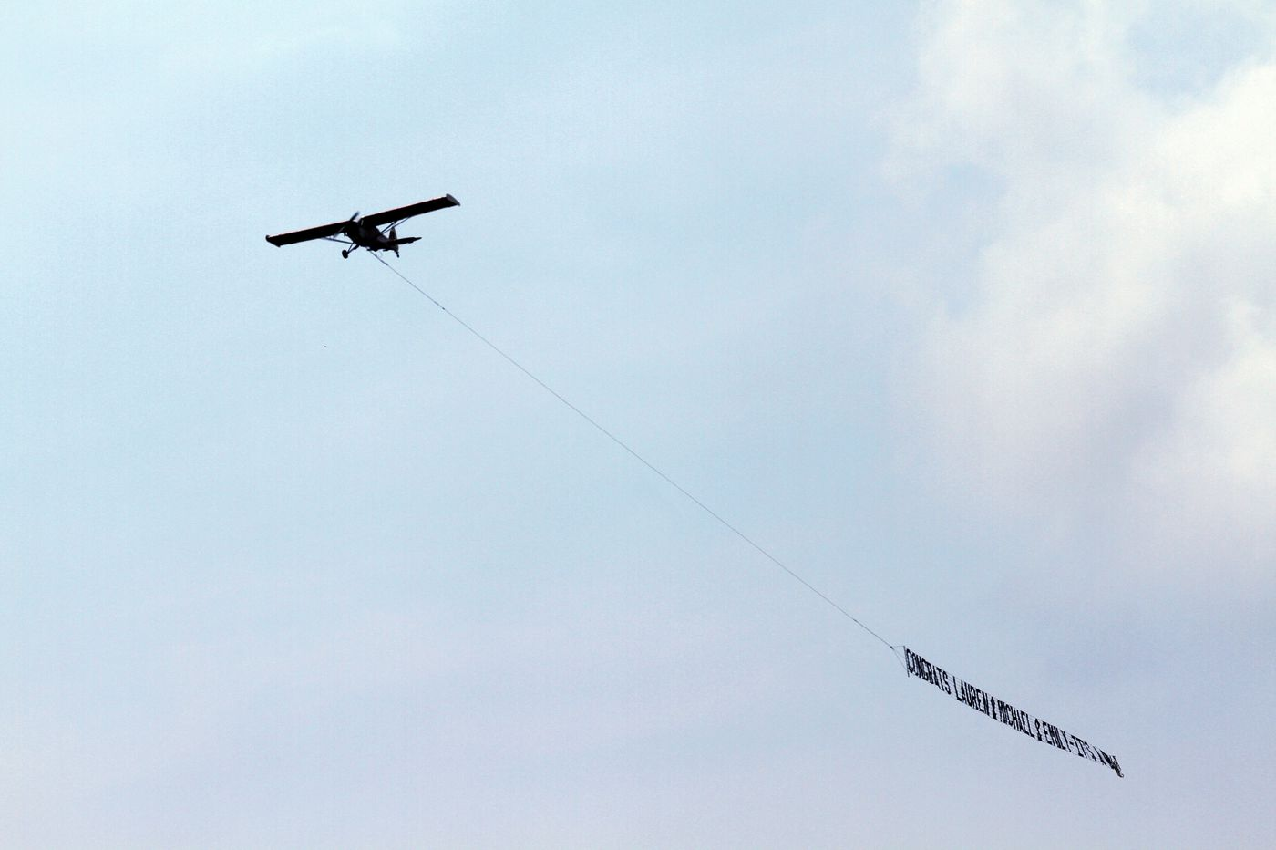 Flying billboard over Jersey Shore reveals baby's gender on anniversary of tragic loss