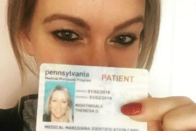 Theresa Nightingale, a medical marijuana activist in Pittsburgh, received her registration card two days before Christmas 2017. Federal law prohibits such card holders from owning a gun.