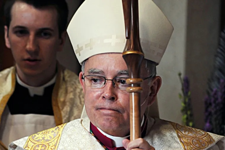 """In homilies, lectures, op-ed articles, books, and a weekly online column, Archbishop Charles J. Chaput unflinchingly assails presidents, lawmakers, academics, and the media when, in his opinion, they """"marginalize God."""" (SARAH J. GLOVER / Staff Photographer)"""