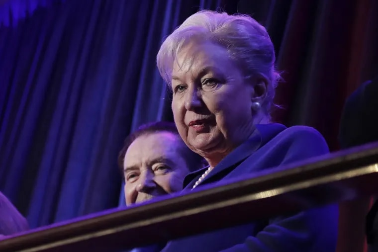 Federal judge Maryanne Trump Barry, sister of President Donald Trump, sits in the balcony during a 2016 rally in New York.