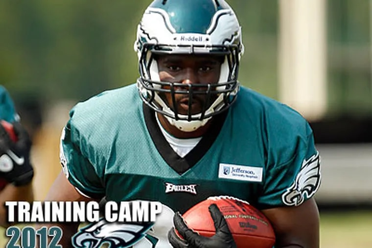 Both rookie Eagles running backs probably have better talent than their entry credentials suggest. (Yong Kim/Staff Photographer)