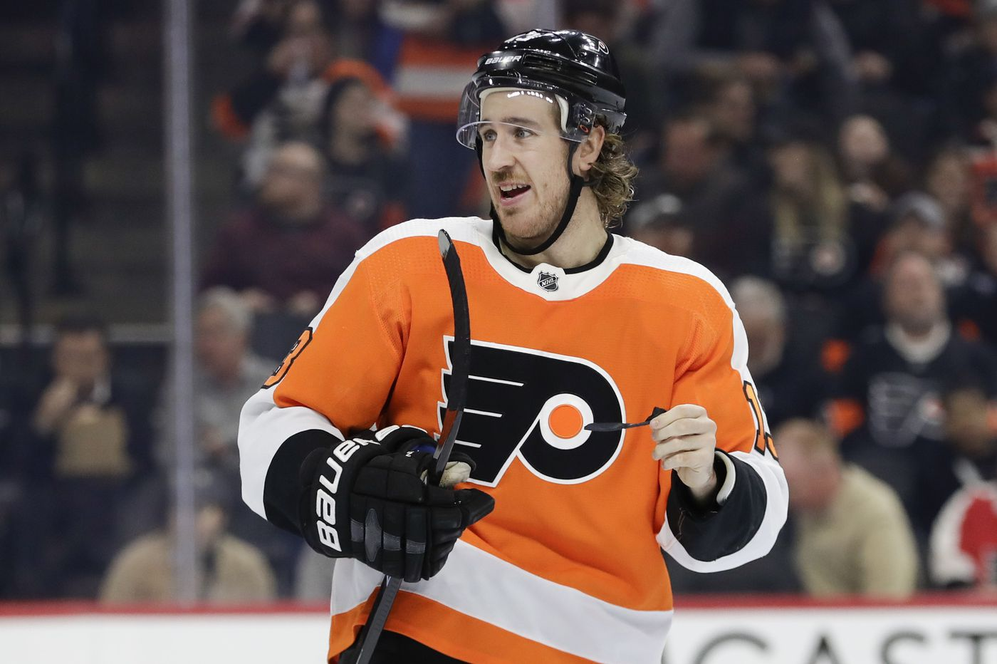 Flyers' Kevin Hayes looks to come out of slump against college teammate Johnny Gaudreau