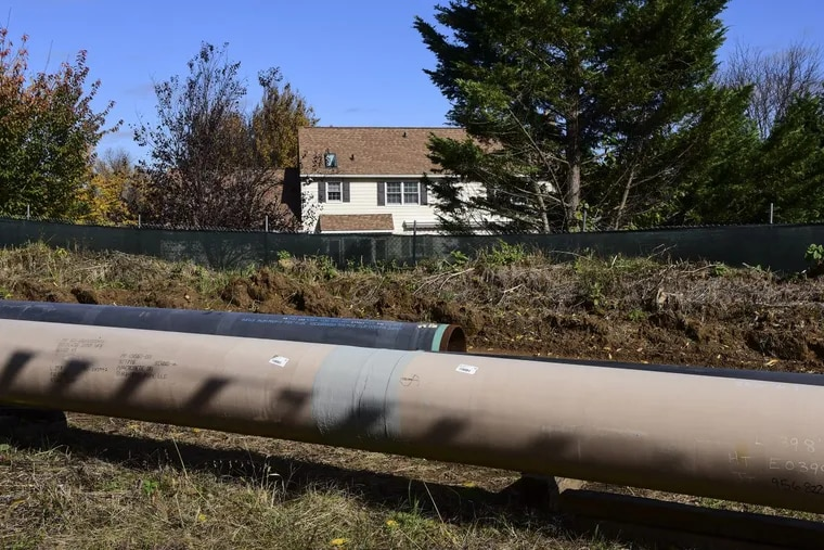 Sunoco's Mariner East pipeline under construction in Chester County. The pipeline is one of many utility and transportation projects regulated by the Public Utility Commission.