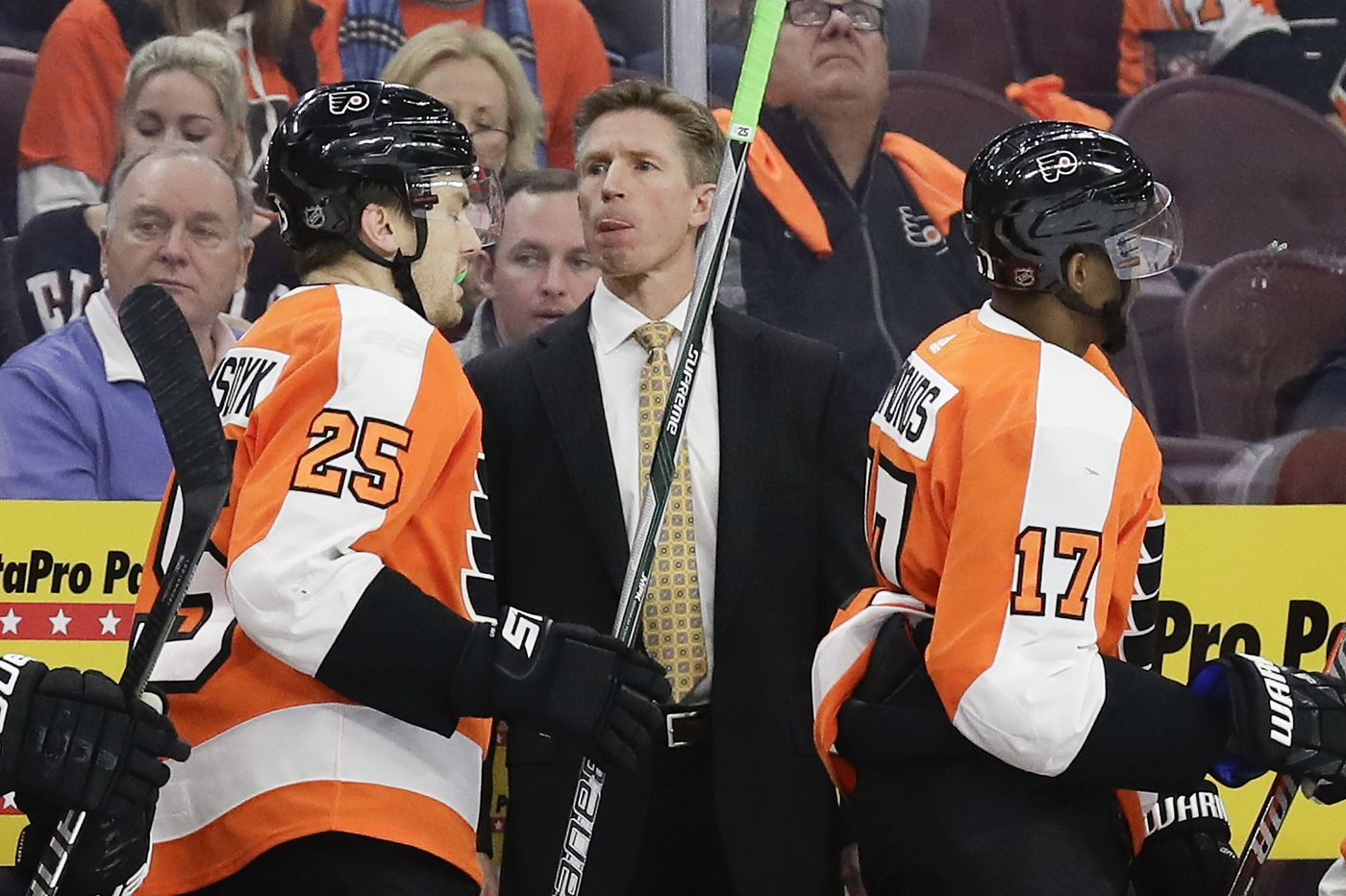 Flyers' penalty kill trends upward against Columbus, but power play continues to struggle