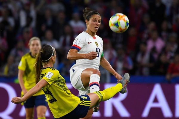 World Cup: U.S. defeats rival Sweden, 2-0, to finish atop group