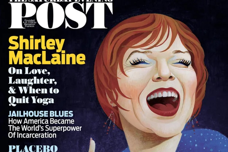 The January-February issue of the Saturday Evening Post features a celebrity profile of Shirley MacLaine.
