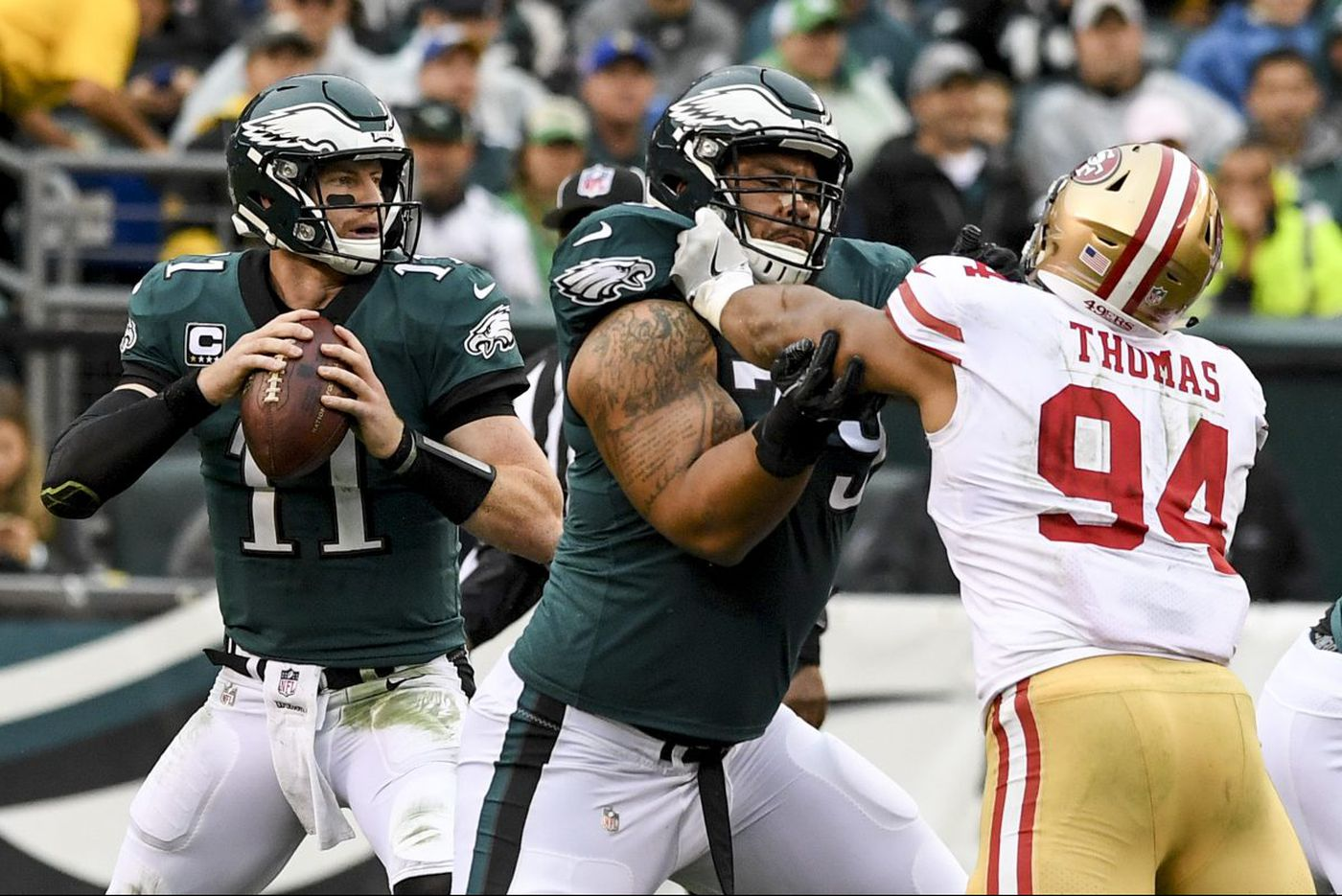 If Eagles don't sort out pass protection better, season could change in a snap