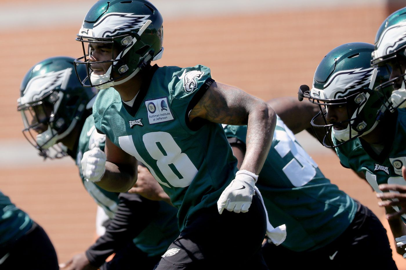 Eagles' receiver Shelton Gibson enters concussion protocol during training camp