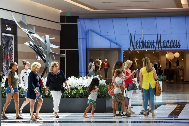 Shoppers in the luxury wing at the King of Prussia Mall, home to about 45 retailers.