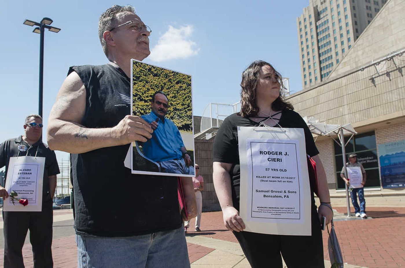 In Philly: A day to weep for those who died at work