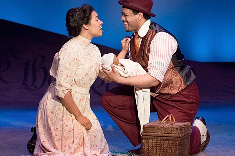"""Ciji Prosser and Derrick Cobey in the musical """"Ragtime"""" at the Bristol Riverside Theatre."""