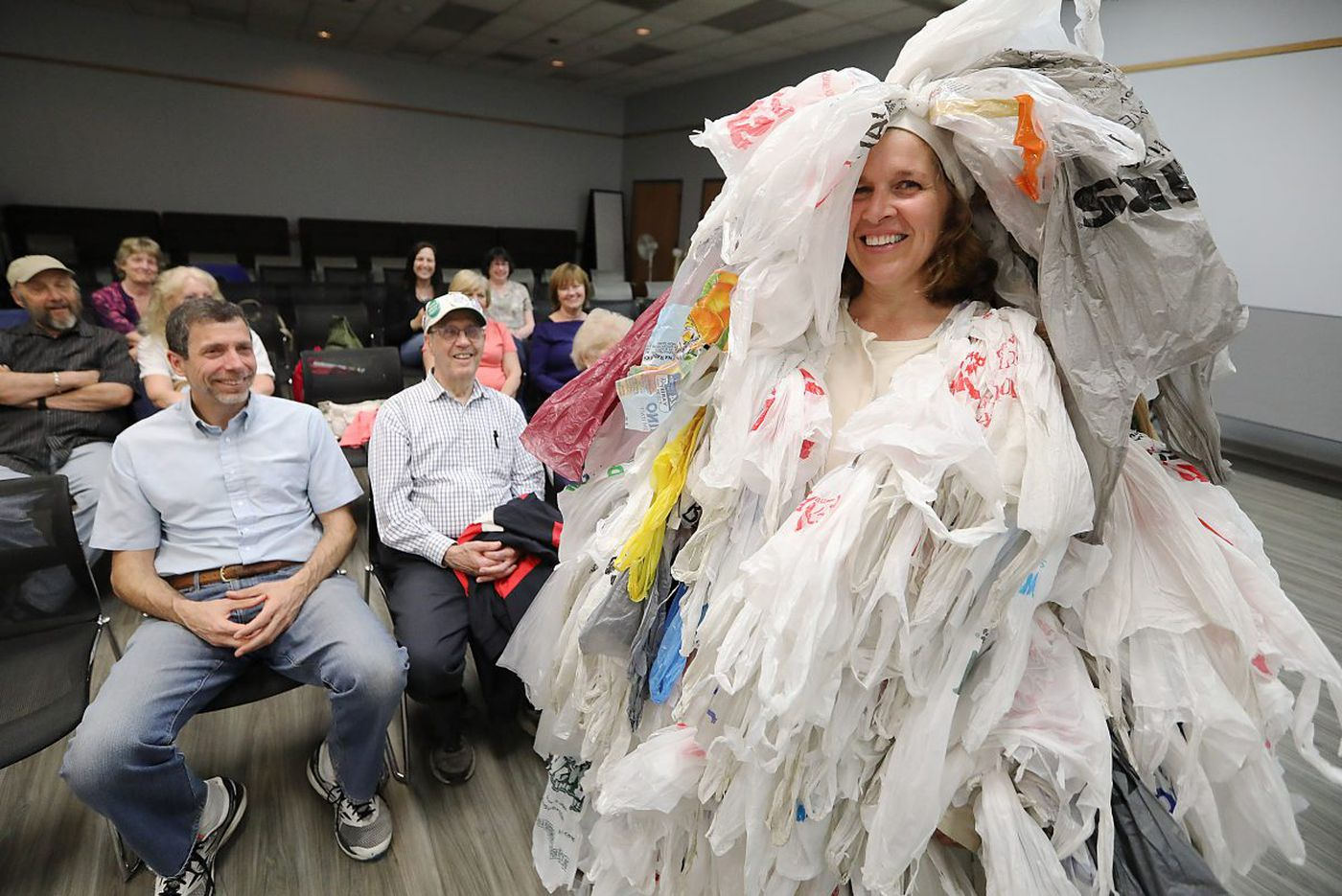 She's the bag monster from New Jersey and she wants you to quit plastic. So do I | Kevin Riordan