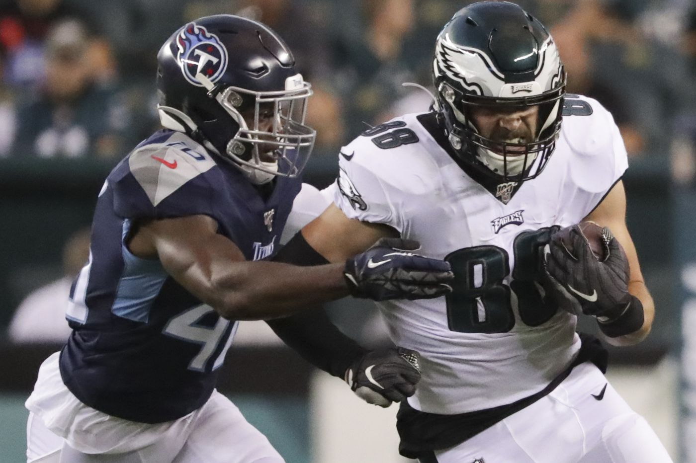 Eagles' tight end Dallas Goedert takes advantage of featured role against Titans