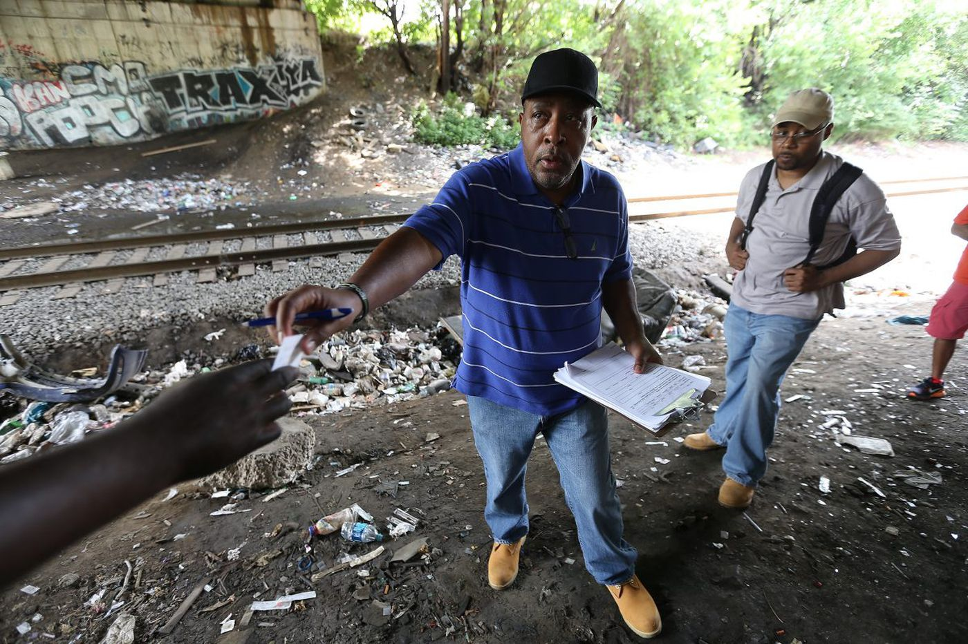 Lights, camera, cleanup for heroin camp … but then what?