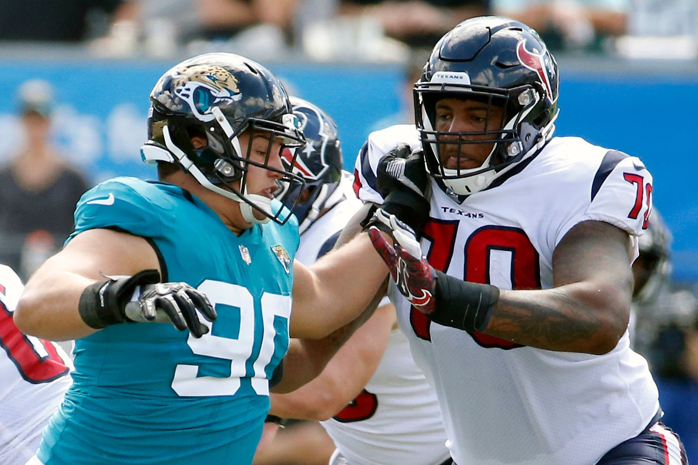 Paulsboro grad Julién Davenport will play in front of family when Houston Texans face Eagles