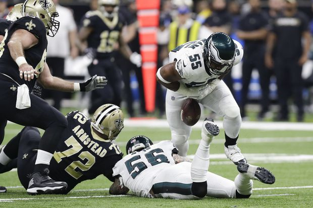 The Eagles can't keep the ball and the game from slipping away against Saints   Bob Ford