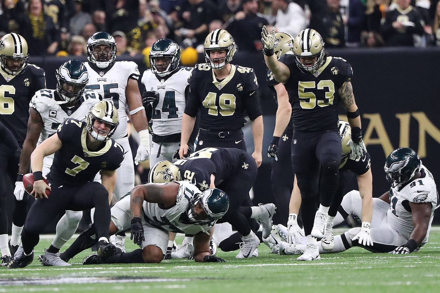 Eagles lost Fletcher Cox for a while, and momentum for good, when they couldn't stop Saints' fake punt