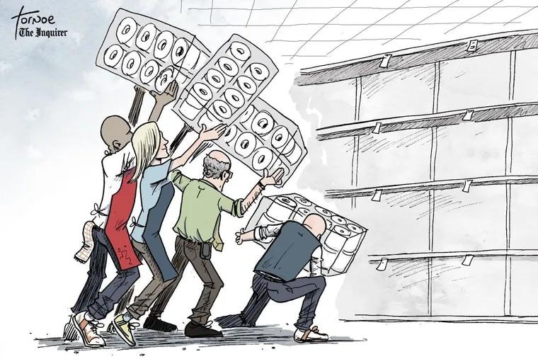 Rob Tornoe's coronavirus cartoon for Thursday, March 27.