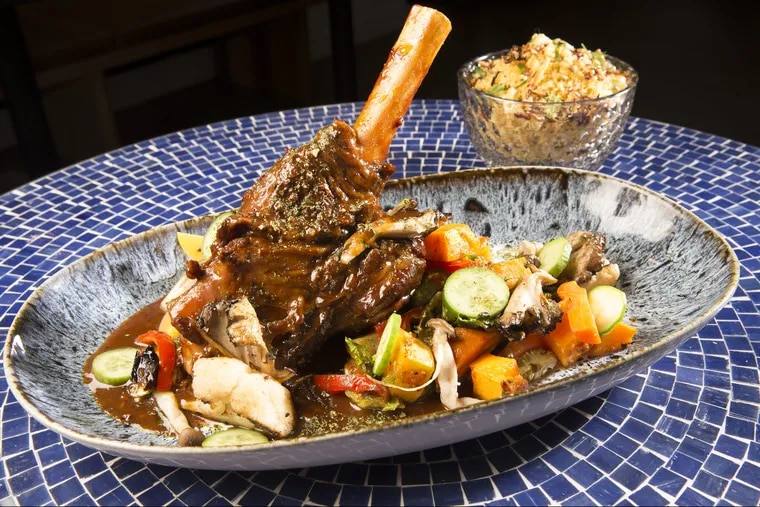 The date braised lamb shank is one of the larger platters for sharing at Spice Finch.