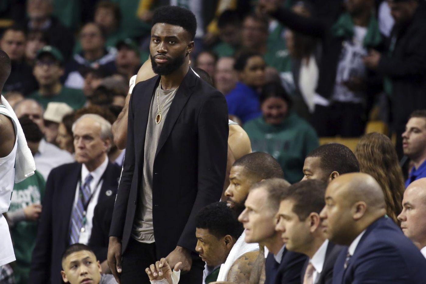 Celtics taking careful approach to Jaylen Brown's injury in advance of Game 2 vs. Sixers