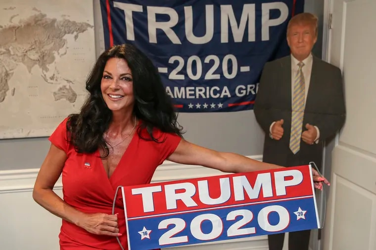Val Biancaniello, at her home in Delaware County, is a Trump delegate headed to the RNC in August. Despite rising coronavirus cases in Jacksonville, she's excited to go and undeterred.