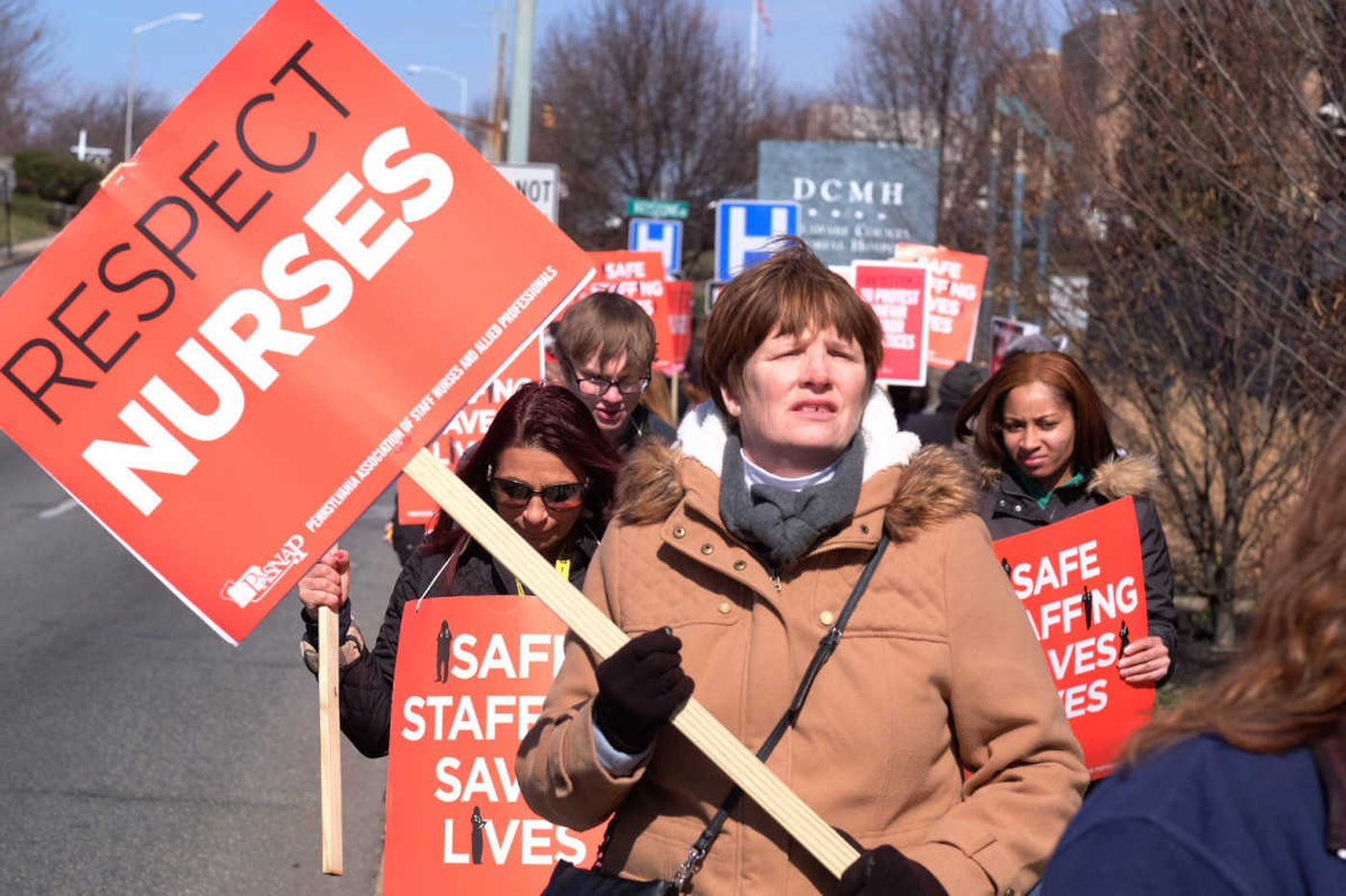 Delco hospital nurses stay on strike; staffing remains sticking point