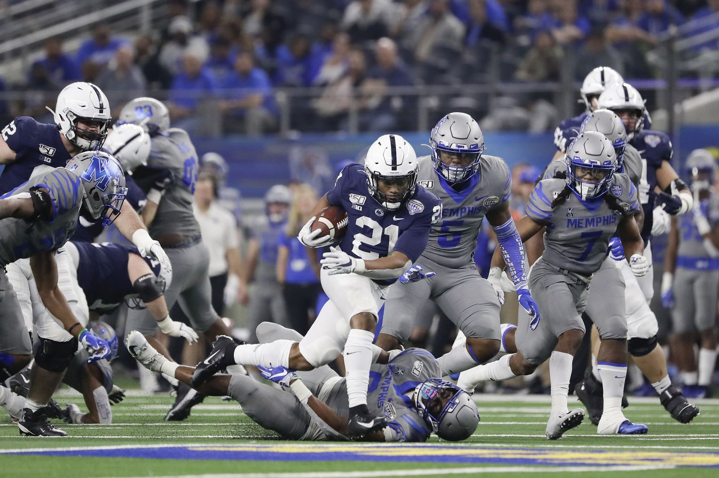 Penn State running back Noah Cain has seen for himself how seriously people need to take COVID-19