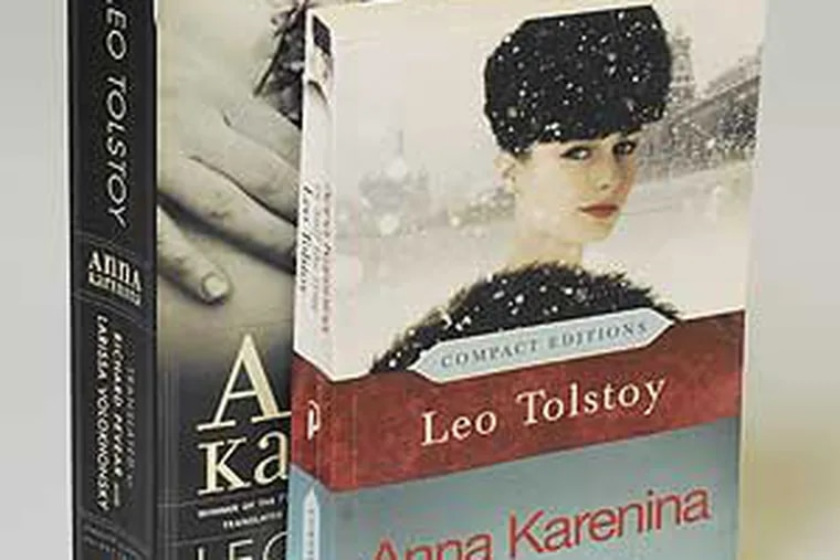 """The complete and the leaner versions of Tolstoy's """"Anna Karenina."""""""