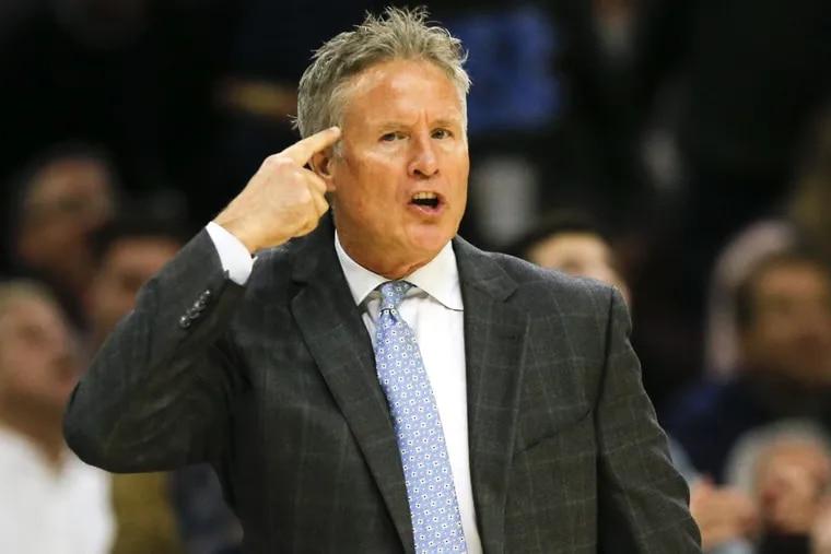 Philadelphia 76ers head coach Brett Brown.