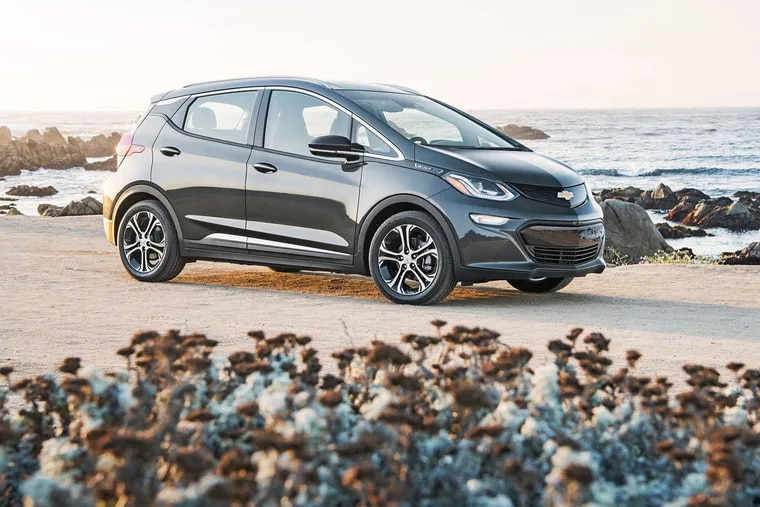 The Bolt , a small crossover, can hold five passengers.