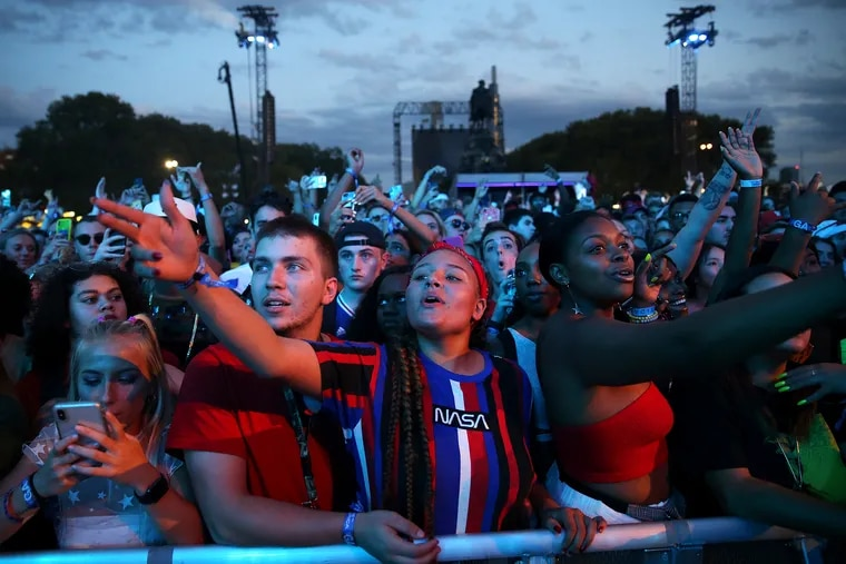 The end of the day doesn't mean the party has to stop, there are plenty of places for Made in America festival guests (shown here in 2019, before the coronavirus pandemic) to visit for pre- or post-festival food and drinks.