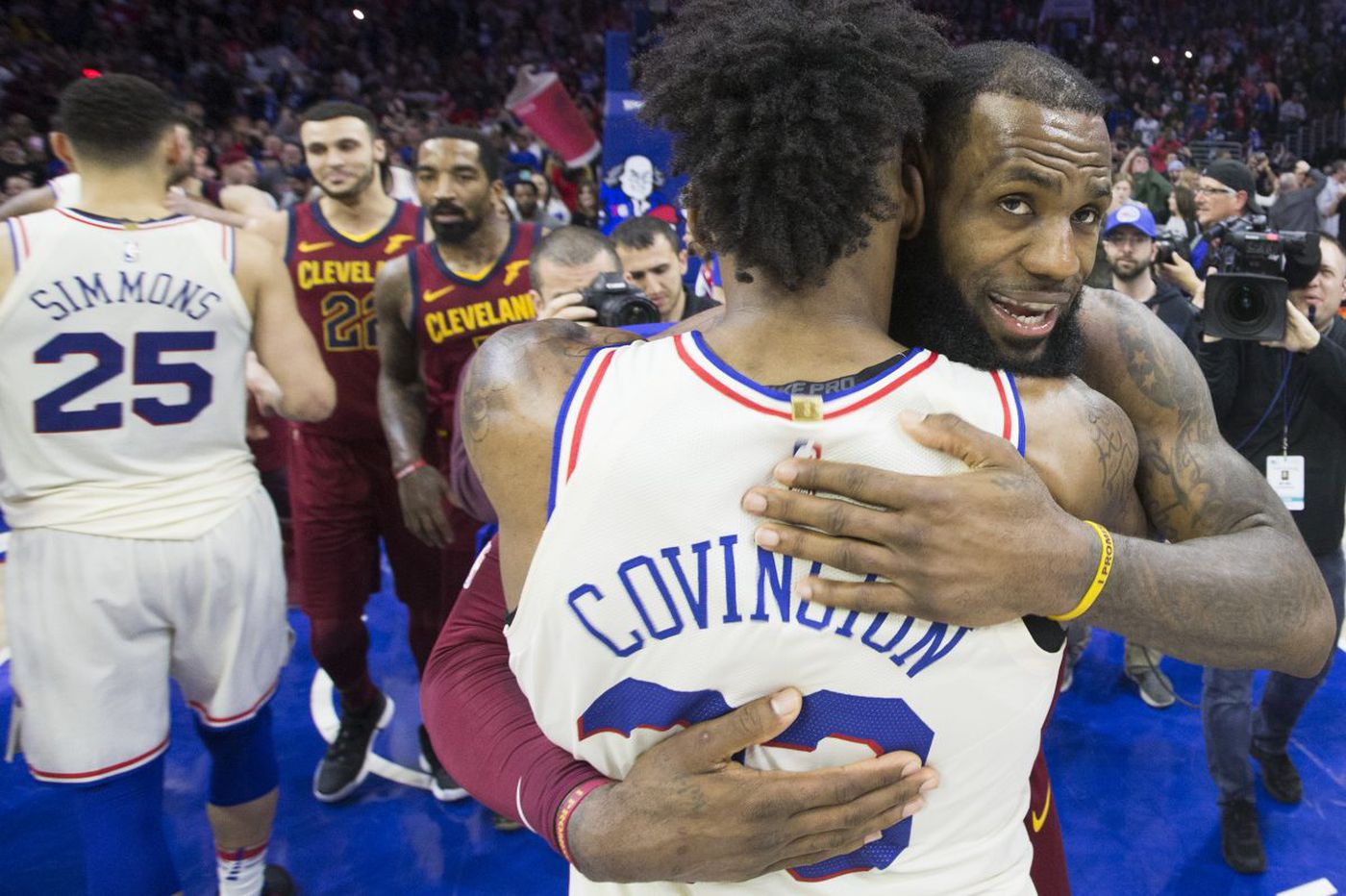 Watch: LeBron James says Sixers fans 'love their team' through ups and downs