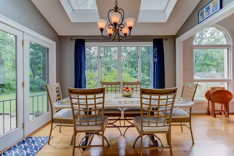 The dining room of a $950,000 estate home for sale in Chadds Ford.
