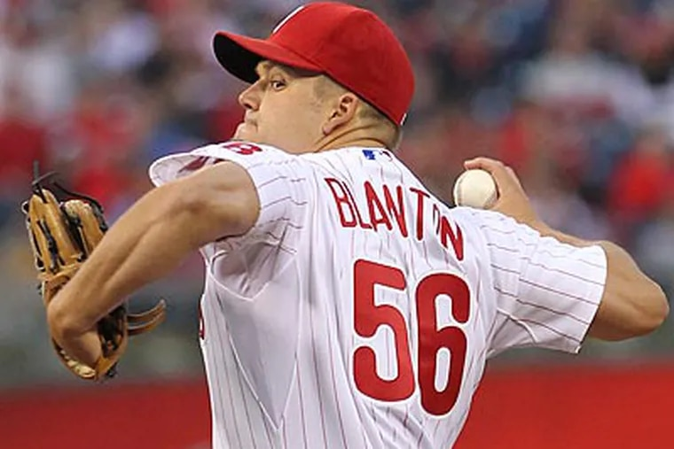 Joe Blanton is scheduled to start against the Rockies tomorrow night at Citizens Bank Park. (Michael Bryant/Staff file photo)