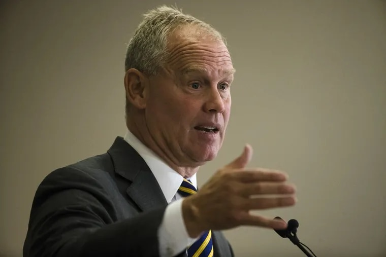 Speaker of the House of Representatives, Rep. Mike Turzai, R-Allegheny, during a May speech. (AP Photo/Matt Rourke)