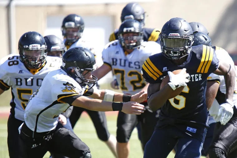 Running back Edward Saydee (6) and Penn Charter look to knock off unbeaten Malvern Prep on Friday afternoon.