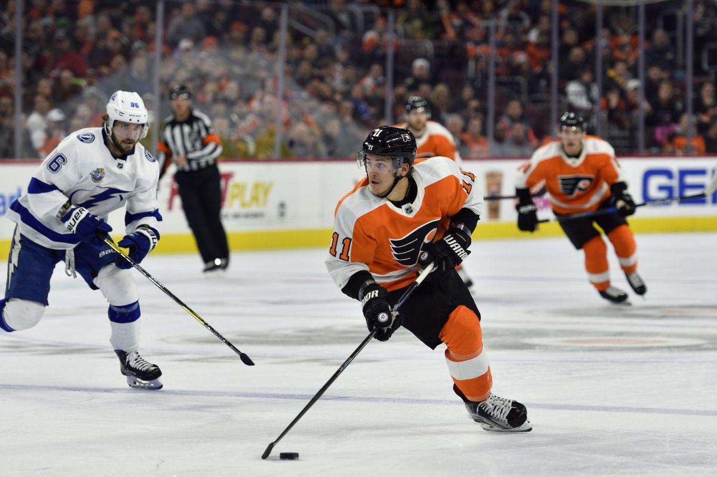 Lightning 5, Flyers 1: Travis Konecny is sizzling, but Dave Hakstol's team needs a break