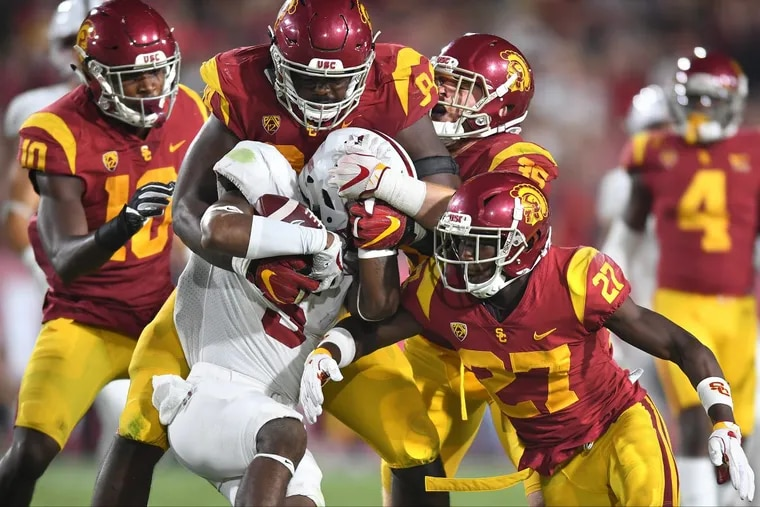 USC plays Stanford Thursday night for the Pac-12 football championship at Levi's Stadium in Santa Clara, Calif.