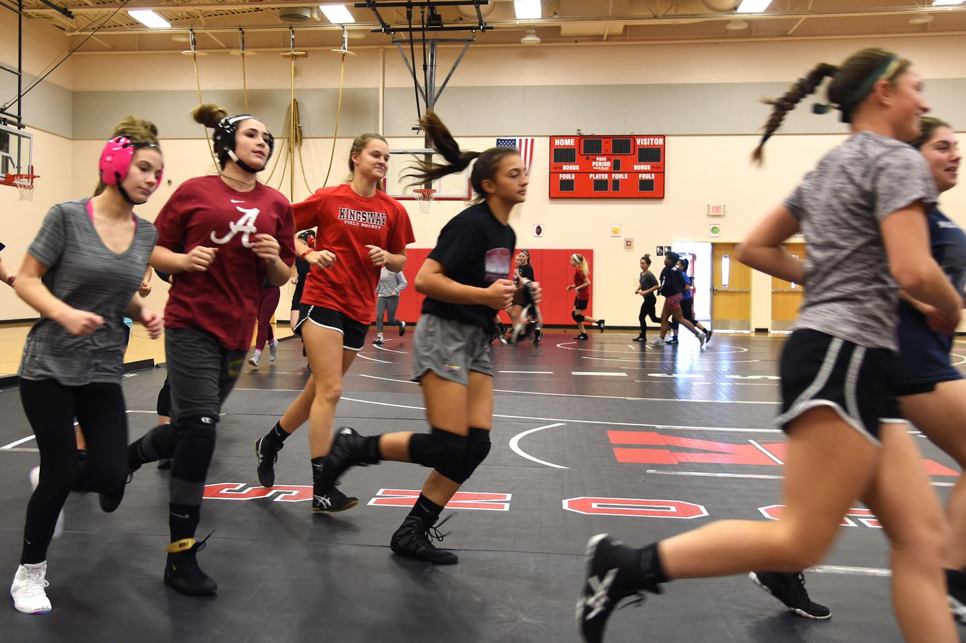 New Jersey's first girls' wrestling season begins this week, and interest at one school has exploded