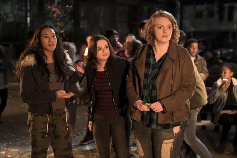 """""""WISH UPON"""": (l-r) Sydney Park stars as Meredith McNeil, Joey King as Claire Shannon, and Shannon Purser as June Acosta."""