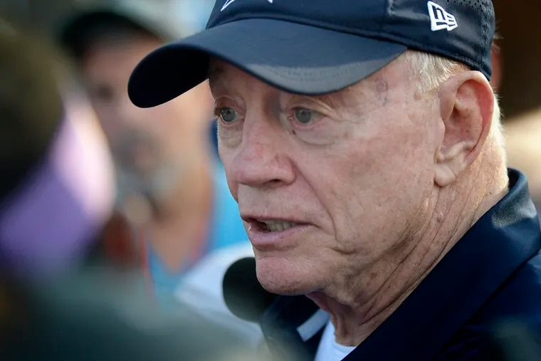 Dallas Cowboys owner Jerry Jones discusses the first four days of camp and offers his thoughts on Ezekiel Elliott, Leighton Vander Esch and other players in Oxnard, Calif. on Sunday, July 29, 2018.