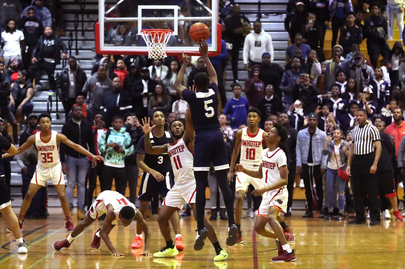 Nisine Poplar's late three-pointer powers MC&S past Imhotep in Public League semifinals