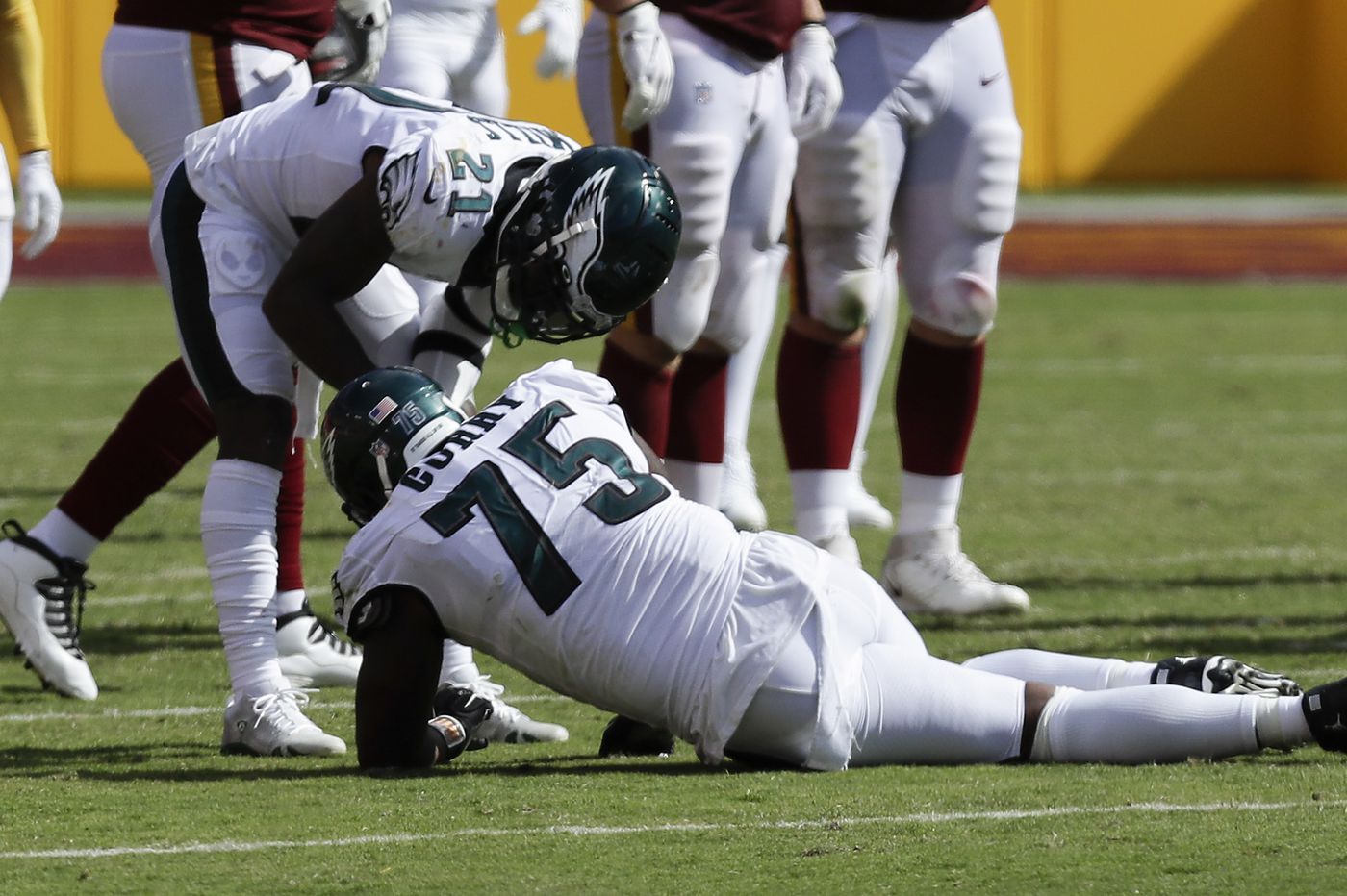 Eagles' injuries start piling up again in season-opening loss to Washington