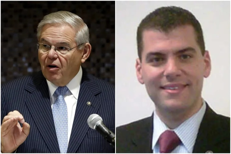 Sen. Bob Menendez's campaign chairman and top political adviser, Michael Soliman (right) has been lobbying members of Congress, including Menendez, on behalf of Qatar since 2015.