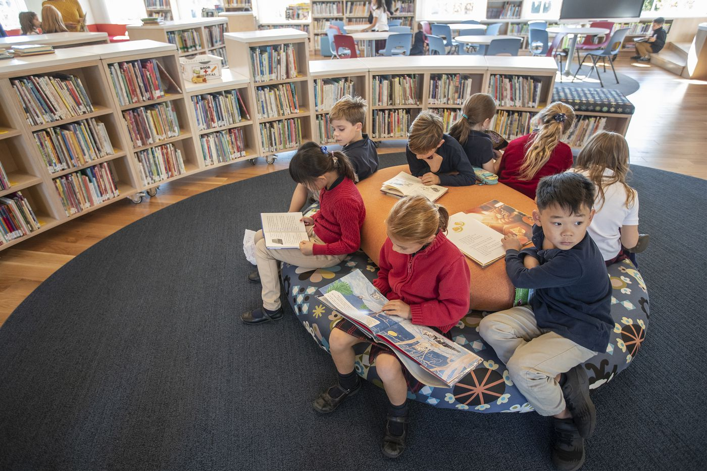 'It feels like you're in heaven' in suburban private school's new, kid-designed library